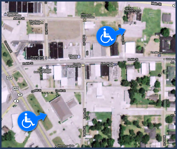 Handicapped Parking Map